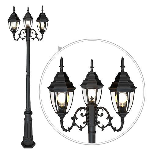 """Globe Post Top Light Pole Fitter 3/"""" White Backyard Lighting Lantern Garden Lamp"""