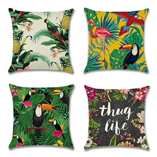 Office 45x45 cm Decorative Throw Pillow Cases for Sofa Adam Home Velvet Cushion Covers with Invisible Zipper 18x18 Inch Bedroom Couch Beige Pack of 2
