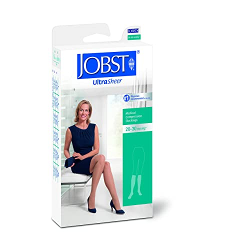 Open Toe Natural Medium Pair 20-30 mmHg BSN Medical//Jobst 119777 Ultra Sheer Compression Stocking Thigh High