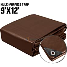 Thick Waterproof Rot Rip and Tear Proof Tarpaulin with Grommets and Reinforced Edges by Xpose Safety 20 x 30 Super Heavy Duty 16 Mil Brown Poly Tarp Cover UV Resistant